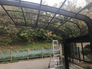 ポリカ屋根撤去時のカーポート