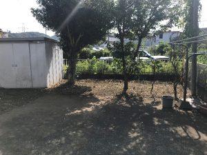日野市草刈り植木枝落とし現場作業後
